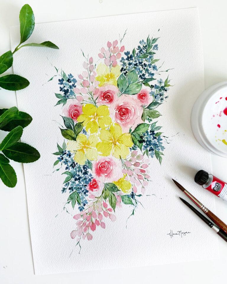 Rose Bouquet - SOLD